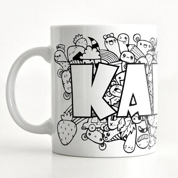 personalizowany kubek dla dziecka doodle freak mug for kids