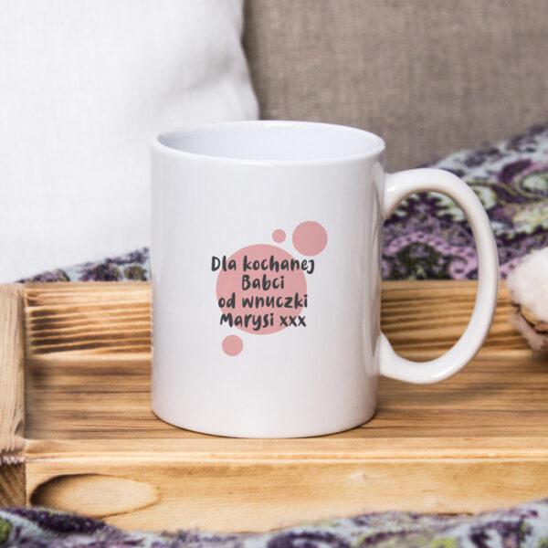 kubek dla babci z imieniem i dedykacją prezent na dzień babci-1