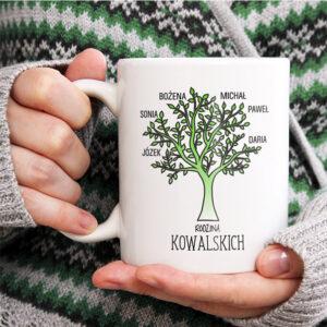 kubek rodzinny z drzewem genealogicznym personalizowany prezent