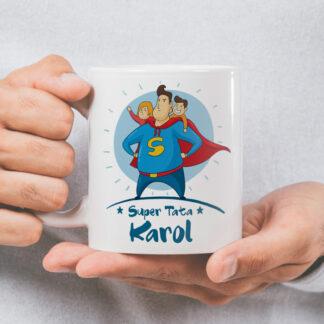 kubek dla taty superbohater personalizowany prezent na dzień ojca