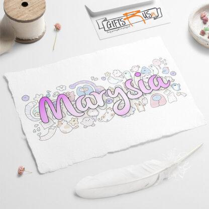 kubek dla dziecka z imieniem personalizowany prezent doodle-2
