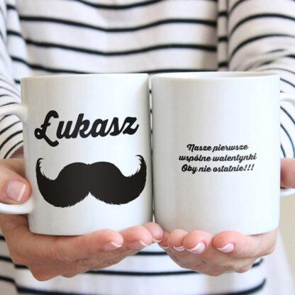 kubki dla pary z imionami wąsy usta personalizowany prezent-1