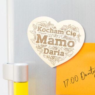 magnes personalizowany prezent na dzień matki lub babci grawer