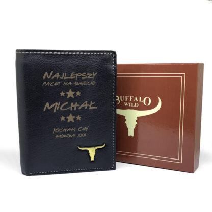 skórzany portfel z dedykacją dla niego prezent na walentynki dla faceta